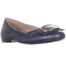 naturalizer Geonna Comfort Ballet Flats, Navy Metallic, 12 US / 42 EU - $33.59