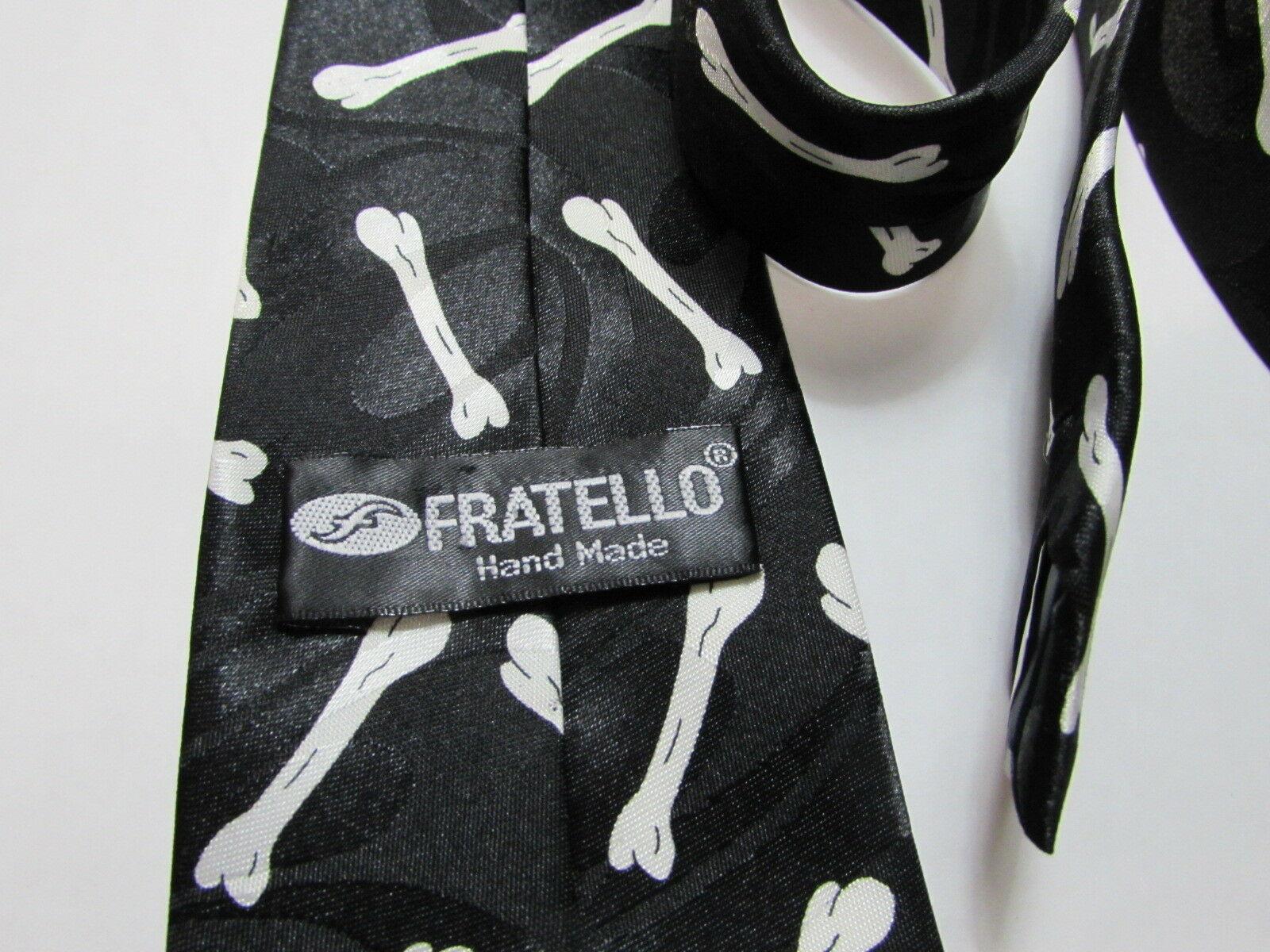 Bulldog French English Dog Bone Necktie Tie Fratello UGA Georgia Yale Gonzaga image 7