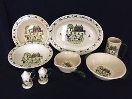 8 Metlox Poppytrail Homestead Provincial Serving Platter Vege Bowls Grav... - $79.99