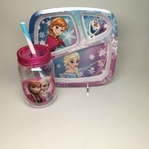 FROZEN-plate & water bottle set. - $12.95