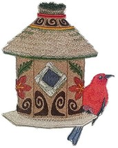 Custom and Unique,Amazing Birdhouse[Tiki Birdhouse With Apapane] Embroid... - $16.82