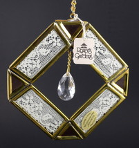 Window Suncatcher Diamond Acrylic Prism Lace Brass Metal Colored Glass M... - $19.99