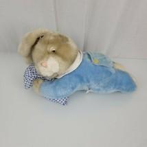 Goffa Stuffed Plush Easter Bunny Rabbit Blue Lying Laying Pillow Sleepy - $79.19