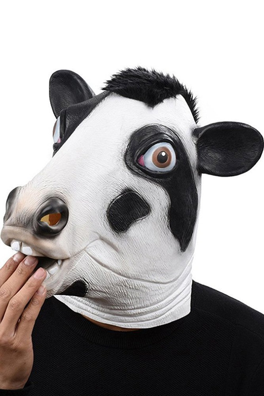 Primary image for Cosplay Halloween Costume Party Latex Dog Head Mask, Cow