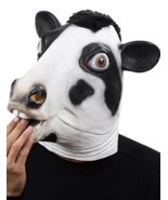 Cosplay Halloween Costume Party Latex Dog Head Mask, Cow - £23.26 GBP