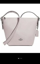 NWT COACH Ice Pink Natural Leather Small Dufflette Bag Crossbody Purse 21377 - $148.45