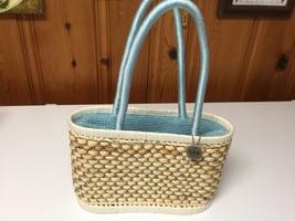 The Sak Original Woven 100% Corn Husk Double Handle Drawstring Bucket Hand Bag ! - $29.99