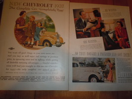 Vintage Chevrolet The Complete Car Completely New 2 Page Print Magazine Ad - $19.99
