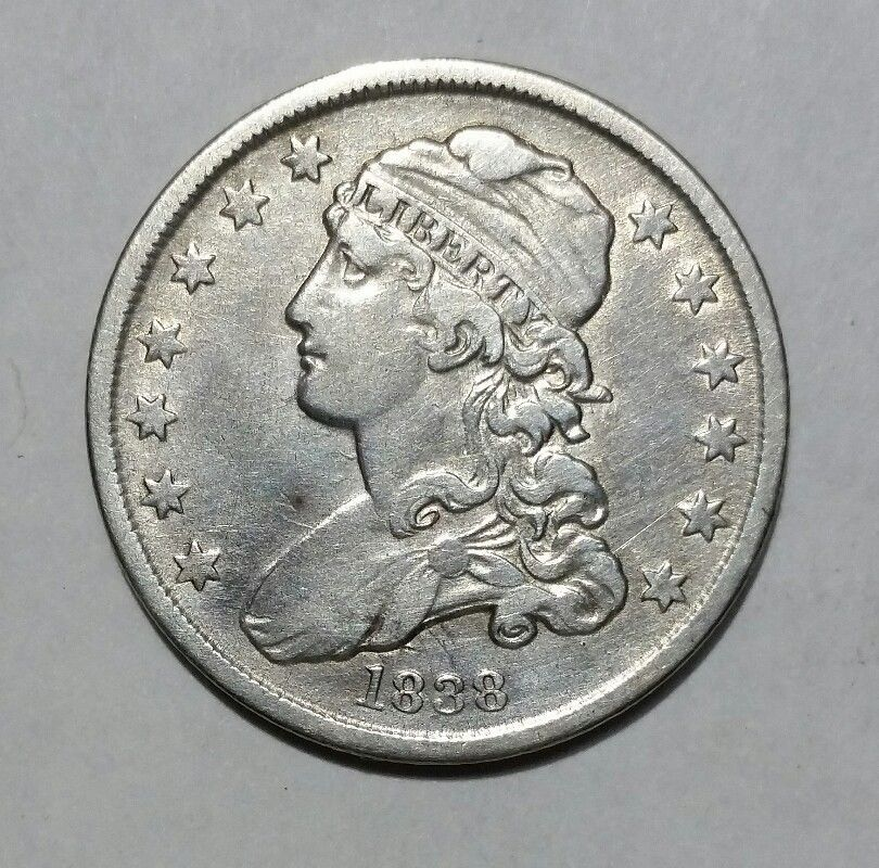 1838 Capped Bust Quarter Dollar 25¢ Coin Lot# MZ 4698