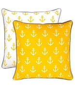TreeWool, (Pack of 2) Anchor 2-in-1 Accent Throw Pillow Covers in Cotton... - $17.99