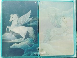 Hallmark Enchanted Dreams Pegasus Plastic Coated Playing Cards  ~ 2 Decks - $5.90