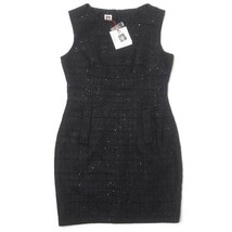 NWT Women's Sz 10 Anne Klein Dress Black Sequin Detail - $29.65