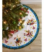 """Bucilla Felt Tree Skirt Applique Kit 43"""" Round-Carousel Santa - $45.58"""