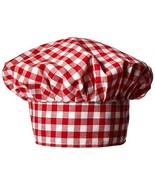 Gingham Fabric Chef's Hat red Party Accessory  1 count 1/Pkg - $5.37