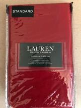 Ralph Lauren Standard Pillowcases NIP Red Dunham Sateen - $37.99