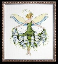 "NC129 ""LILY OF THE VALLEY ""-  CHART & EMBELLISHMENT& Kreinik - $31.68"