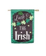 St Patricks Day Chalkboard House Banner / Garden Flag NEW Evergreen Holiday - $15.79+