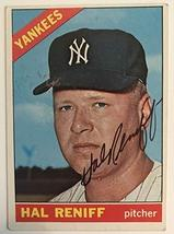 Hal Reniff (d. 2004) Signed Autographed 1966 Topps Baseball Card - New Y... - $9.89