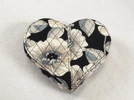 Vera Bradley Camellia From My Heart Shape Jewelry Box Floral Black White... - $14.50