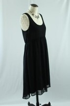 Anthropologie Pins And Needles Size 6 Black Dress Sleeveless Open Back Line Lbd - $20.40