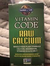 Vitamin Code RAW Calcium by Garden of Life, 60 capsules 07/22 - $28.71