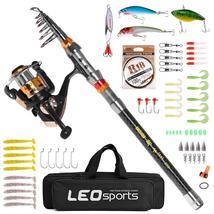1.8-3.6m Telescopic Fishing Rod Combo and Reel Full Kit Spinning Fishing... - $31.99+