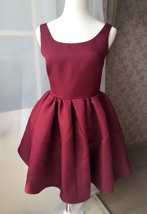 Dressromantic Sleeveless Thick Fit and Flare Dress- burgundy,petite image 2