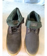 Timberland Roll Top Dark Brown/Green With Mesh Size13 Men's Boot 6953A - $128.69