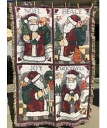 Vtg Goodwin Weavers Noel Peace Joy Goodwill Christmas Blanket Tapestry T... - $74.99