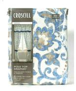 Croscill Janine 82 In W X 84 In L Pole Top Drapery 2 Lined Panels & Tiebacks - $74.99