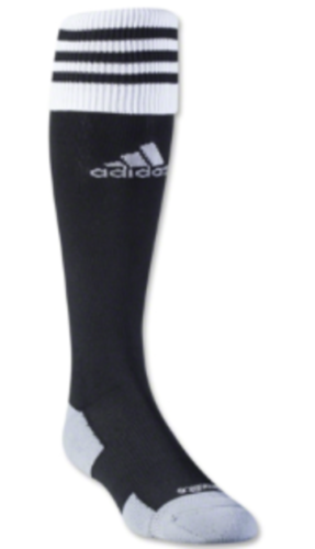 Adidas Copa Zone II Cushion Soccer Sock (Black/White), Medium 4Y-8.5 (wmns 5-10)