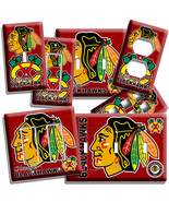 CHICAGO BLACKHAWKS HOCKEY LIGHT SWITCH POWER OUTLET WALL PLATE COVER MAN... - $8.09+