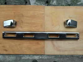 FRONT BUMPER CENTER BAR CHROME BRACKET 3PCS For NISSAN 93-95 HARDBODY PATHFINDER