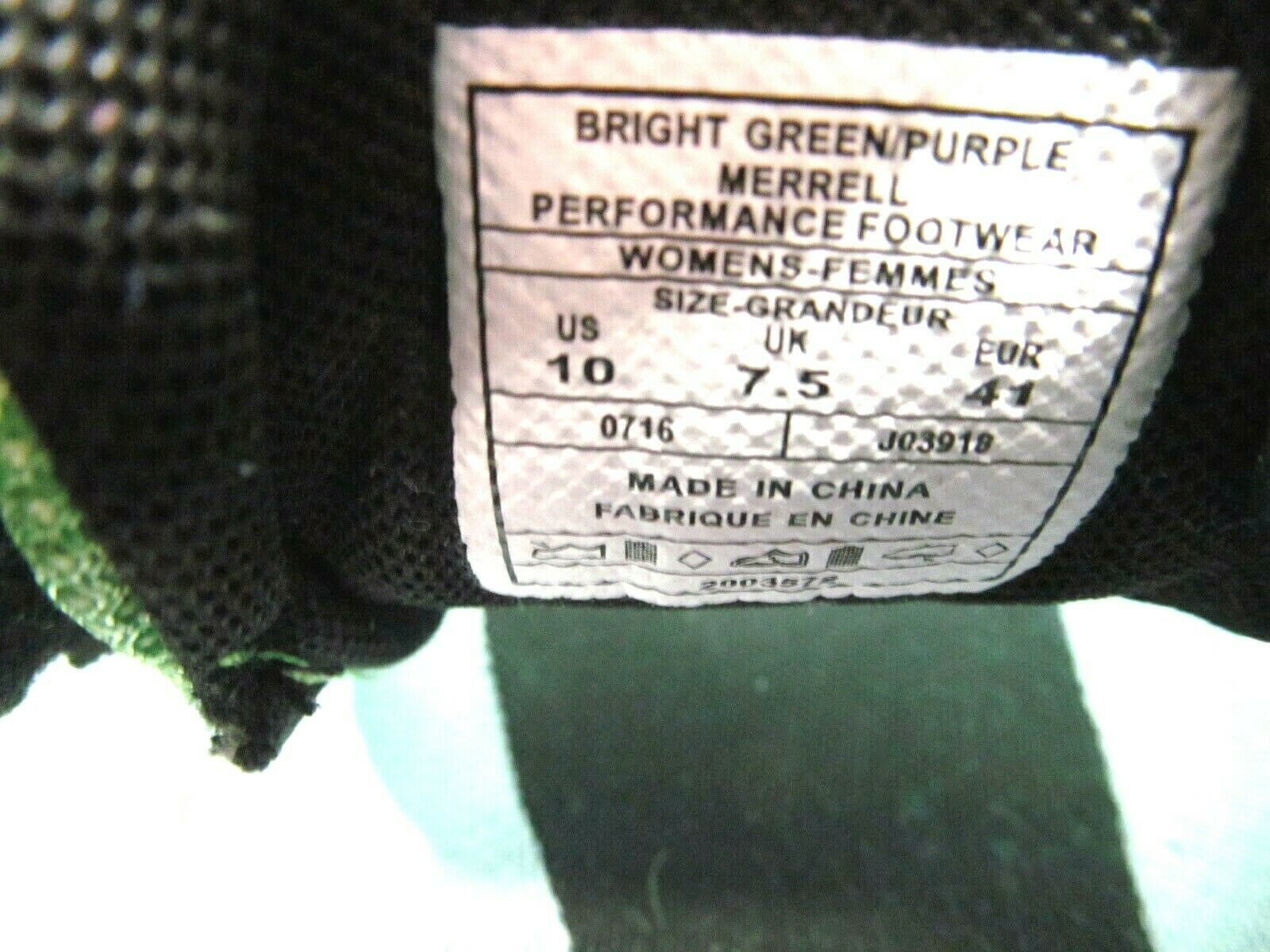 Merrell M Connect Womens Vapor Glove 2 Shoes Bright Green And Purple Size US 10 image 9