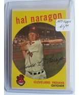 1959 Topps #376 Hal Naragon : Cleveland Indians - $3.75