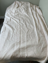 Peacock Alley 100% linen bed duvet cover size 108x88 light pink - $68.31