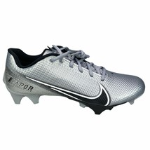 Nike Vapor Edge Speed 360 Football Cleats Size 9.5 Men's Silver Black CD0082-009 - $69.99