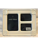 Never-Used 3-Photo White Ceramic Picture Frame - £36.65 GBP