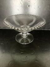 "Vintage Imperial Glass Candlewick Pedestal Bowl 8"" - $35.00"