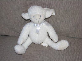 "VINTAGE GYMBOREE STUFFED PLUSH WHITE SHEEP LAMB BABY TOY LOVEY BEAN BAG 7"" - $27.71"