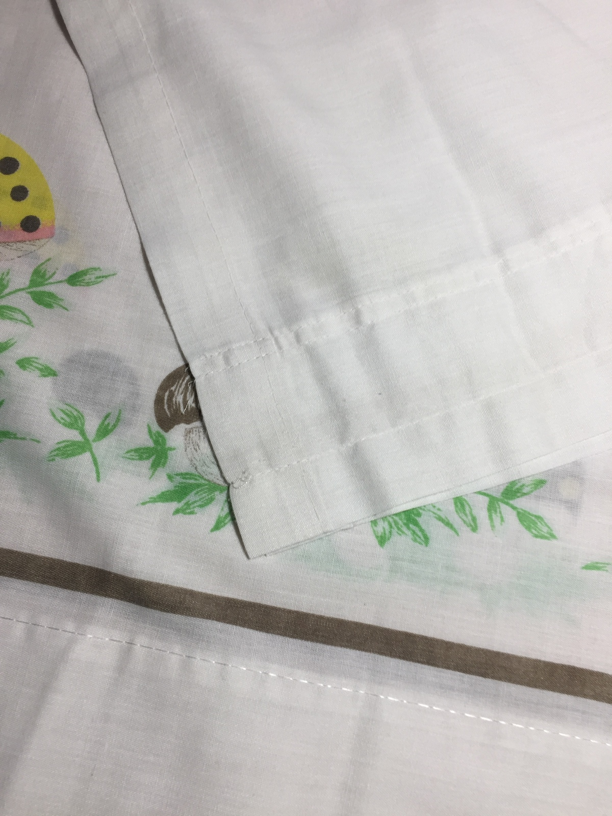 vintage 70s merry mushroom kitchen curtains (from sears) 1