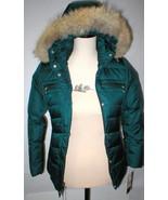 New Girls Designer Andrew Marc Dark Teal Green Down Parka Coat Jacket 10... - $159.20