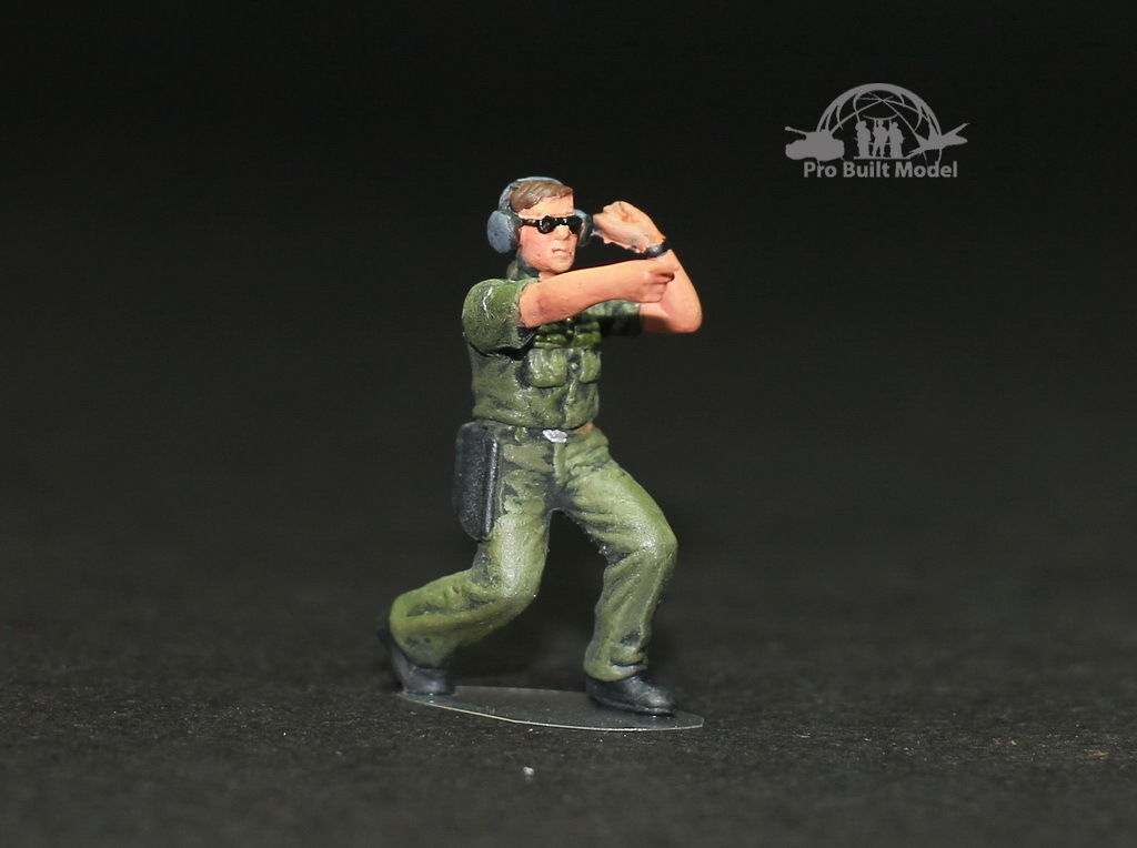 USAF Ground Crew Support in Airfield 1:48 Pro Built Model #3 for sale  USA