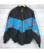 Vtg Award Design Western Apparel Jacket Men's L Aztec Tribal Coat Blue B... - $67.99