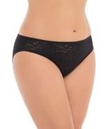 Secret Treasures Bikini Panties 1 Pair Size LARGE Lace Leaf Bikini Black  - $11.38