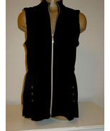 Chico's Travelers black gold zipper front vest top sleeveless jacket-0 S... - $21.33