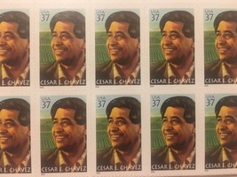 Cesar E Chavez Block Of Ten United States Postage Stamps - $9.46
