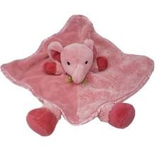 Carter's Bébé Rose Éléphant Sécurité Couverture Hochet Peluche Animal Adorable - $36.20