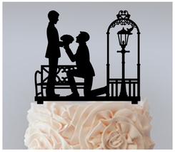 Gay Wedding,Cake topper,Cupcake topper,silhouette Romantic Same Sex Gay : 11 pcs - $20.00