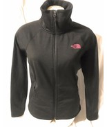 The North Face Women's Small Arcata Full Zip Black Pink Logo, great condition - $34.64